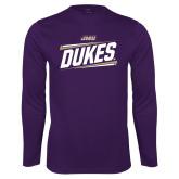 Performance Purple Longsleeve Shirt-Dukes Slanted
