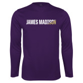 Performance Purple Longsleeve Shirt-James Madison Two Tone