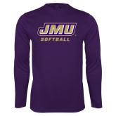 Performance Purple Longsleeve Shirt-Softball