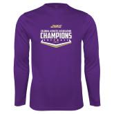 Performance Purple Longsleeve Shirt-CAA 2017 Softball Champions