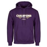 Purple Fleece Hoodie-NCAA Division I Football Champions 2016