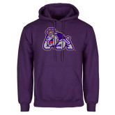 Purple Fleece Hoodie-Duke Dog