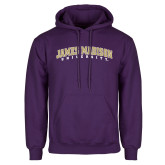 Purple Fleece Hoodie-James Madison University Arched