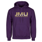 Purple Fleece Hoodie-JMU James Madison Dukes Textured
