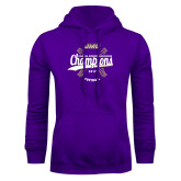 Purple Fleece Hoodie-CAA 2017 Softball Champions