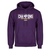 Purple Fleece Hoodie-2018 Womens Lacrosse National Championship #2