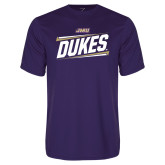 Performance Purple Tee-Dukes Slanted