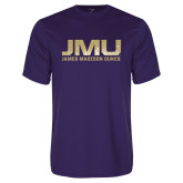 Performance Purple Tee-JMU James Madison Dukes Textured