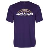 Performance Purple Tee-JMU Dukes Basketball Half Ball