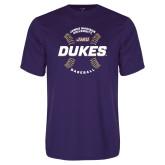 Performance Purple Tee-Dukes Baseball w/ Seams