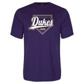 Performance Purple Tee-Dukes Softball Script w/ Plate