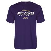 Performance Purple Tee-JMU Dukes Softball Stacked