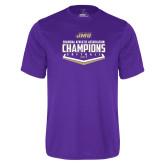 Performance Purple Tee-CAA 2017 Softball Champions