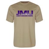 Performance Vegas Gold Tee-JMU James Madison Dukes Textured