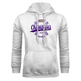 White Fleece Hoodie-CAA 2017 Softball Champions