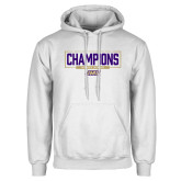 White Fleece Hoodie-2018 Womens Lacrosse National Championship #2