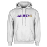 White Fleece Hoodie-James Madison Two Tone