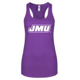 Next Level Ladies Purple Berry Jersey Racerback Tank-Primary Logo