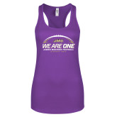 Next Level Ladies Purple Berry Ideal Racerback Tank-We Are One - Kickoff 2017