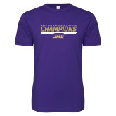 Next Level SoftStyle Purple T Shirt-Swimming and Diving Champions