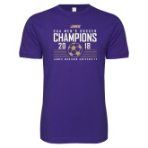 Next Level SoftStyle Purple T Shirt-2018 CAA Mens Soccer Champions