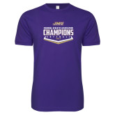 Next Level SoftStyle Purple T Shirt-CAA 2017 Softball Champions
