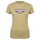Ladies Syntrel Performance Vegas Gold Tee-NCAA Division I Football Champions 2016
