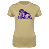 Ladies Syntrel Performance Vegas Gold Tee-Duke Dog