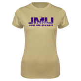 Ladies Syntrel Performance Vegas Gold Tee-JMU James Madison Dukes Textured