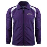 Colorblock Purple/White Wind Jacket-James Madison University Arched