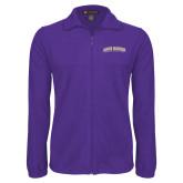 Fleece Full Zip Purple Jacket-James Madison University Arched
