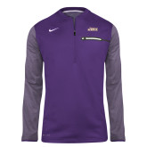 NIKE Purple Sideline Coach 1/2 Zip Top-