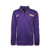 NIKE Purple Sideline Boys Therma 1/4 Zip Top-