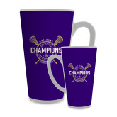 Full Color Latte Mug 17oz-2018 Womens Lacrosse National Championship #1