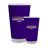 Full Color Glass 17oz-Swimming and Diving Champions