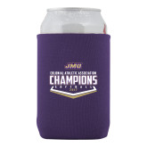 Collapsible Purple Can Holder-CAA 2017 Softball Champions