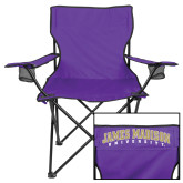 Deluxe Purple Captains Chair-James Madison University Arched