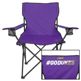 Deluxe Purple Captains Chair-#GoDukes