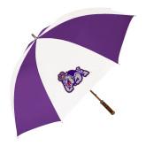 64 Inch Purple/White Umbrella-Duke Dog