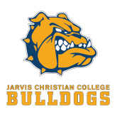Large Decal-Jarvis Chrsitian College Bulldogs w/ Major Stacked, 12 inches wide