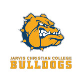 Extra Small Decal-Jarvis Chrsitian College Bulldogs w/ Major Stacked, 4.5 inches wide