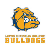 Small Decal-Jarvis Chrsitian College Bulldogs w/ Major Stacked, 6 inches wide