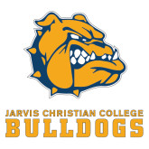 Extra Large Decal-Jarvis Chrsitian College Bulldogs w/ Major Stacked, 18 inches wide