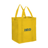 Non Woven Gold Grocery Tote-Jarvis Christian College - Institutional Mark