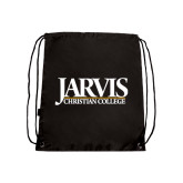 Black Drawstring Backpack-Jarvis Christian College - Institutional Mark