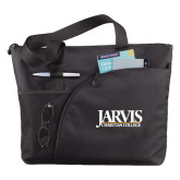 Excel Black Sport Utility Tote-Jarvis Christian College - Institutional Mark