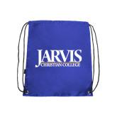 Royal Drawstring Backpack-Jarvis Christian College - Institutional Mark