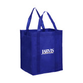 Non Woven Royal Grocery Tote-Jarvis Christian College - Institutional Mark