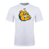 Under Armour White Tech Tee-Major - Bulldog Head