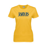 Ladies Gold T Shirt-Jarvis Christian College - Institutional Mark